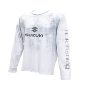 HUK Men's White Lowpro Raglan Long Sleeve