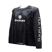 HUK Men's Black Lowpro Raglan Long Sleeve